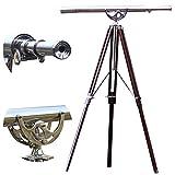 collectiblesBuy Big Stand Tripod Telescope - Nautical Maritime Design Nickel Finish Spyglass Telescope
