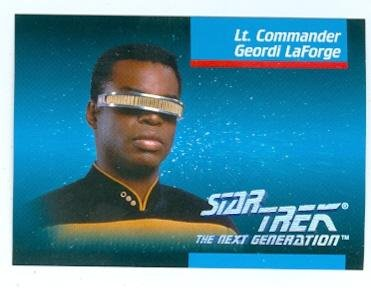 (Levar Burton trading card Geordi LaForge Star Trek The Next Generation 1992 Impel #008)