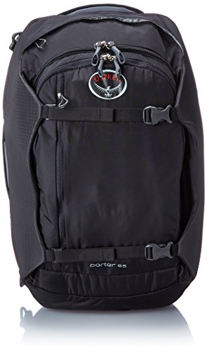 Osprey Porter Travel Duffle Bag, Black, 65-Litre