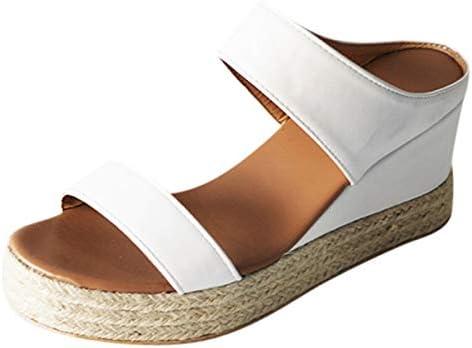 Thenxin Women Wedge Sandals Double Straps Platform Espadrilles Heel Slipper Sandal Summer Open Toe Shoes / Thenxin Women Wedge Sandals Double Straps Platform Espadrilles Heel Slipper Sandal Summer Open Toe Shoes