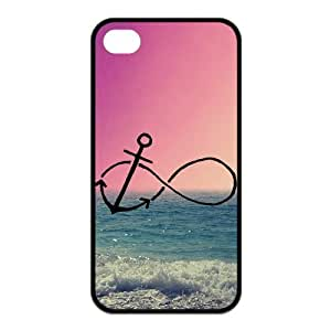 Custom Infinity Anchor Durable Back Cover Case for iPhone 4 4s