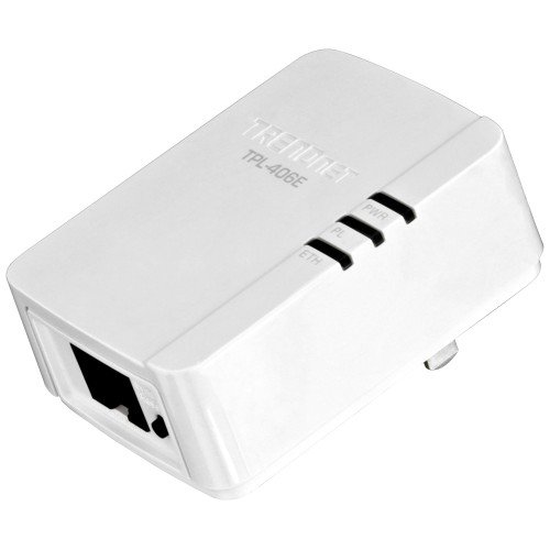 Trendnet 500 Mbps Compact Powerline Av Adapter - 1 X Network (rj-45) - 62.50 Mbps Powerline - 984.25 Ft Distance Supported - Homeplug Av - Fast Ethernet - Rohs, Weee Compliance by TRENDnet
