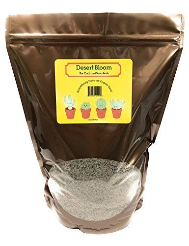 Cactus and Succulent Soil Mix - Patented Coarse Sand Drains Fast and Retains Nutrients, Ready to Use or Blend, 2 Quarts
