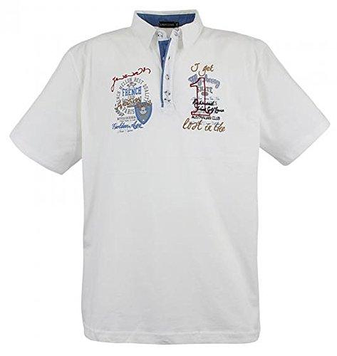 3101 Creme-Weiß Poloshirt Lavecchia Übergröße Gr. 3-8 XL