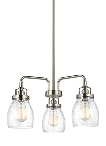 Sea Gull 3114503-962 Belton Chandelier, 3-Light 180 Total Watts, Brushed Nickel