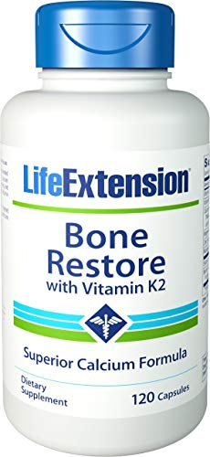 Life Extension Bone - Life Extension Bone Restore with Vitamin K2, 120 Caps (2-Pack)