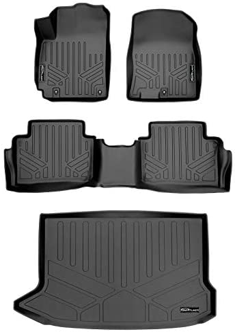SMARTLINER Custom Fit Floor Mats 2 Rows and Cargo Liner Set Black Compatible with 2018-2022 Hyundai Kona (No Electric Models)