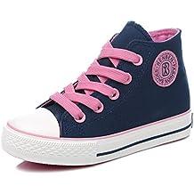Children Shoes Girls Sneaker Lace-Up Canvas Shoes Boys Kids Shoes