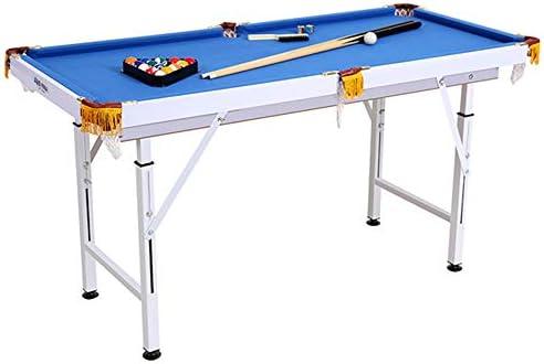 Lcyy-game Mesa de Billar Plegable Tipo de Piscina Mesa de Billar Estable Espacio Moderno Ahorro Mesa Juego para niños y Adultos con Tacos, Pelota, Tiza, Estante, Cepillo Incluido Azul: Amazon.es: Hogar