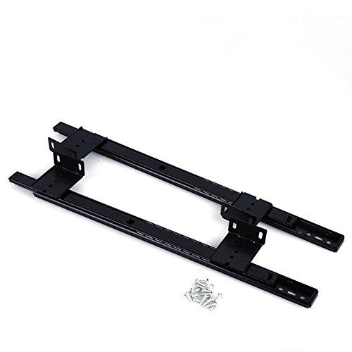 14 inch Desk Extension Computer Desk Keyboard Drawer Tray Slide Rail Rack Cupboard Wardrobe Drawer Slide Sliding Hardware Replace (Black) by OXSNice (Image #5)
