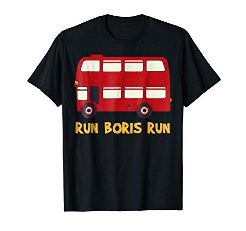 Boris Johnson Funny Brexit Shirt-Double Decker Bus shirt ()