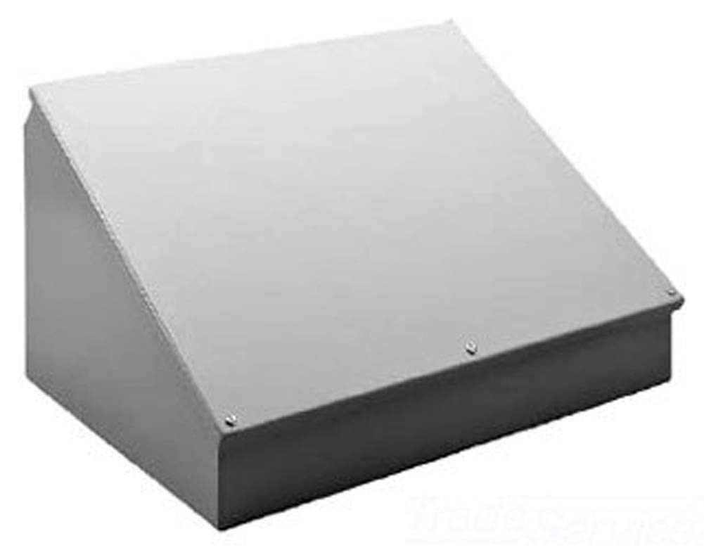 Sloped Cover Gray 16.00 x 20.00 x 11.09 Steel Hoffman C16C20 Consolet
