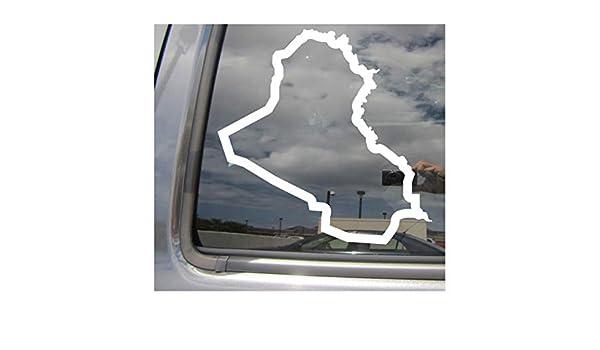 Iraq Country Outline Baghdad Car Truck Bumper Window Vinyl Decal Sticker 07186