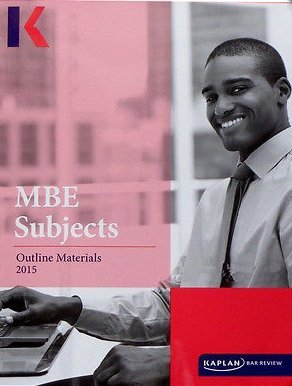 Kaplan PMBR Bar MBE Subjects Outline Materials 2015-2016 W/ Federal Civil Procedure