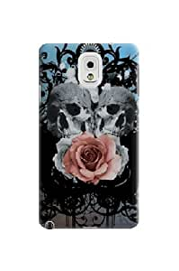 Xpeen Phone Cases Blue Skull Danger Bones Style Waterproof Samsung Galaxy Note3 Case Cover