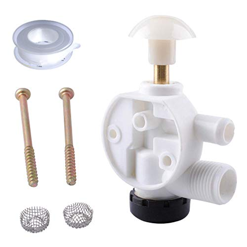 Podoy 385314349 RV Water Valve Assembly Camper Trailer Boat Toilet Repair Kit Compatible Sealand EcoVac Vacuflush Pedal Flush Toilets Replacement for Dometic 385314349 310 210 Model