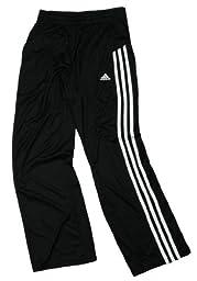 Adidas 3-Stripe Performance Youth Track Pants (Large - 14/16, Black-White)
