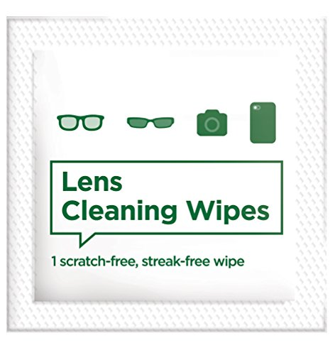 Pre-moistened Lens and Glass Cleaning Wipes: for Glasses, Camera, Cell Phone, Smartphone, and Tablet – Safe for AR lenses, Quick Drying, Streak Free, Disposable - Individually Wrapped - 200 Pack by Diamond Wipes (Image #3)