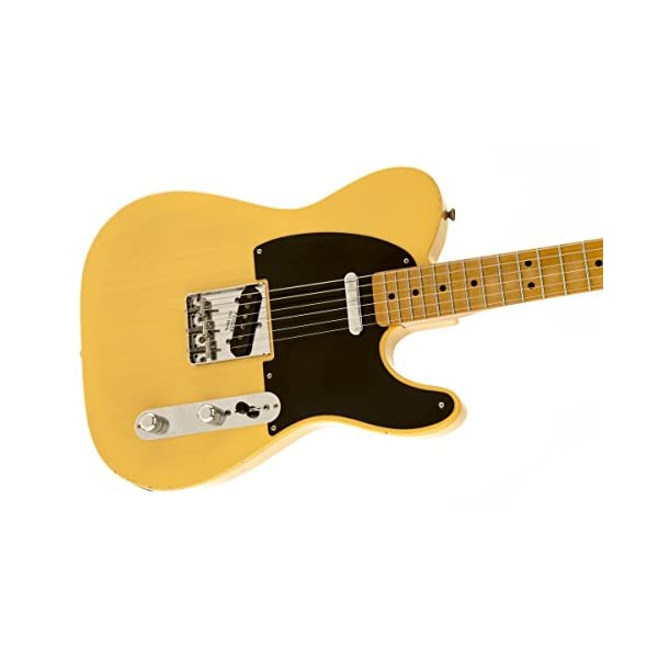 Fender 0131212307 Road Worn '50s Telecaster Maple Fingerboard Electric Guitar – Blonde