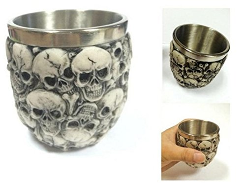 3D mugs gift Halloween Party Skull Tankard Coffee Beer Cup Mug Scary Drinking Cup Halloween Festival (2) ()