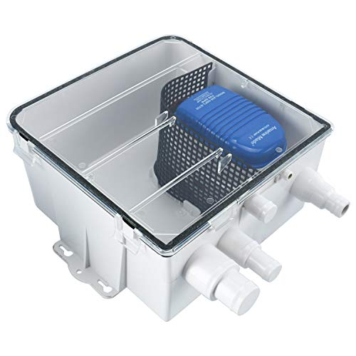 Amarine Made Boat Marine Shower Sump Pump Drain Kit System Shower Pump System - 12v - 750 GPH - Multi-Port Inlet