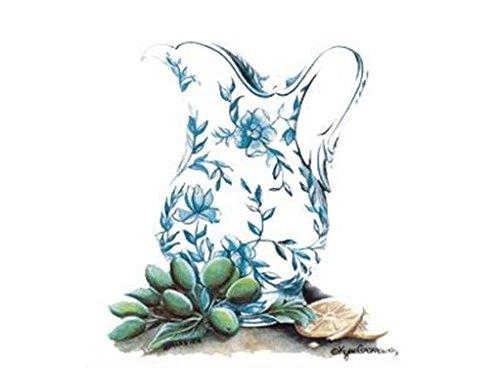384 Floral Jug Lemonade Pitcher Waterslide Ceramic Decals By The Sheet (4