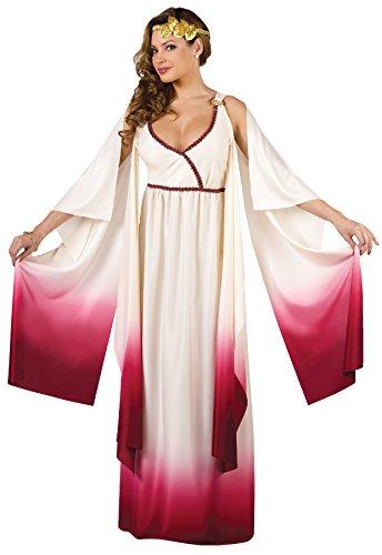 FunWorld Love Goddess, White/Gold, Small/Medium 2-8 Costume -