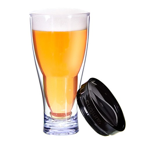 Cupture Upside Down Beer Mug, 28oz (Black)