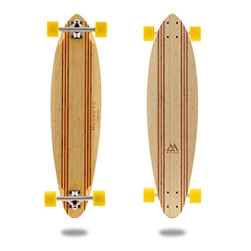 Laguna Longboard Collection | 36 inch Longboard Skateboards | Bamboo with Hard Maple Core | Cruising, Carving, Dancing, Freestyle … (Pintail)