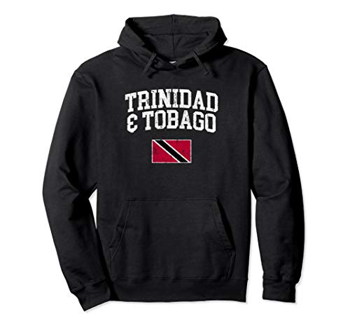 Vintage Trinidad & Tobago Flag Pullover Hoodie College Shirt