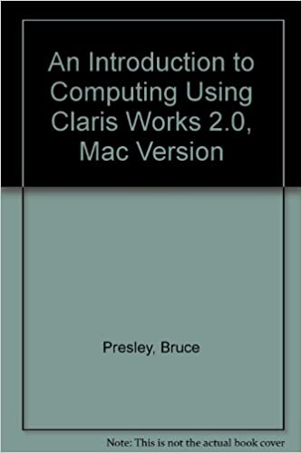 Book An Introduction to Computing Using Claris Works 2.0, Mac Version