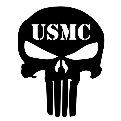 USMC-Punisher-Skull-Decal-PREMIUM-5-WHITE-Patriot-Molon-Labe-Sniper-Military-III-Truck-SUV-Motorcycle-Helmet-Vans-Wall-Art-Laptop-Notebook-Tablet