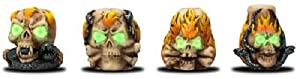 4 x Skull Glow In The Dark Tobacco Cigarette Snuffers // Assorted Designs