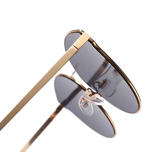 Polarizadas Conducción Retro de sol Dama B Marco Viaje Caballero Gafas Vintage Sol Unisex y polarizadas para Aire Libre Hombre Mujer,Gafas de estilo Metal Gusspower Hombre wq6TCAX