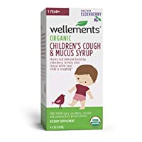 Wellements Organic Kids Cough, 4 Fl Oz, Free from Dyes, Parabens, Preservatives…