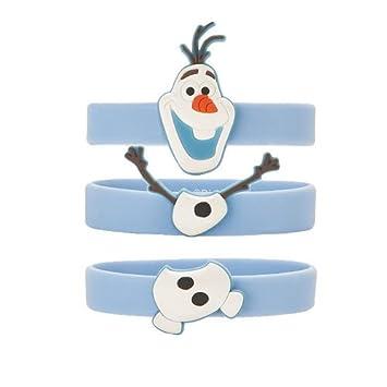 Frozen Olaf pulseras - Pack de 3 incluye un llavero Olaf ...