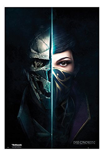 dishonored 2 faces poster gloss