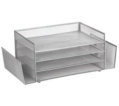 (Brenton Studio Mesh 4-Shelf 2-Sided Desk Sorter,)
