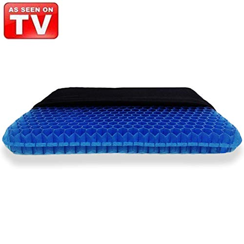Angushy Egg Gel Seat Cushion, Breathable Gel Cushion Chair Pads with Non-Slip Cover for Home Office Car Wheelchair, Honeycomb Design As Seen On TV (Gel Seen Cushion Tv On As Seat)