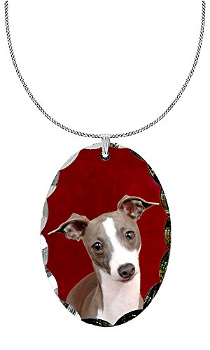 Canine Designs SP ItGreyhoundRed Greyhound Necklace product image