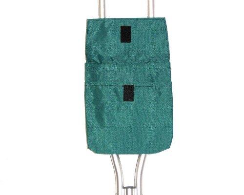 Handi Pockets 1a5tl Storage Accessory Crutch, Nylon, Teal with Flap by Handi Pockets