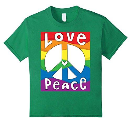 - Kids PEACE SIGN LOVE T Shirt 60s 70s Tie Dye Hippie Costume Shirt 6 Kelly Green