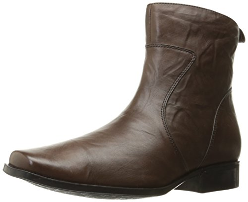 Rockport Men's Toloni Ankle Bootie, Dark Brown Scrunch, 11.5 M US by Rockport