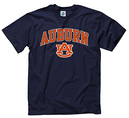 Auburn Tigers Adult Arch & Logo Soft Style Gameday T-Shirt - Navy