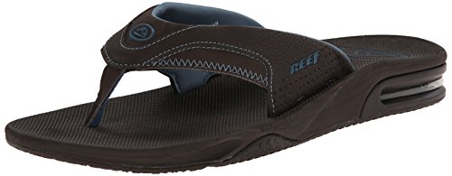 Fanning Wood Brown Blue Sandal Thong Men's Prints Reef fxRqAwgR