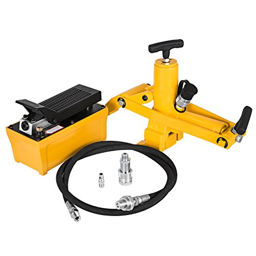 TttopKing Bead Breaker Tool 10,000PSI Air Hydraulic Foot Pump for Tractor Truck Tire Bead Breaker Kit with Hydraulic Metal Foot Pump and Air Hose