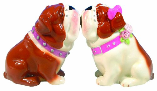 Want Westland Giftware Mwah Magnetic Bulldogs Salt and Pepper Shaker Set, 3-Inch lowestprice
