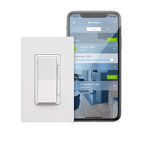 Leviton DH6HD-1BZ 600W Decora Smart with HomeKit Technology Dimmer, No Hub Required, 1-Pack