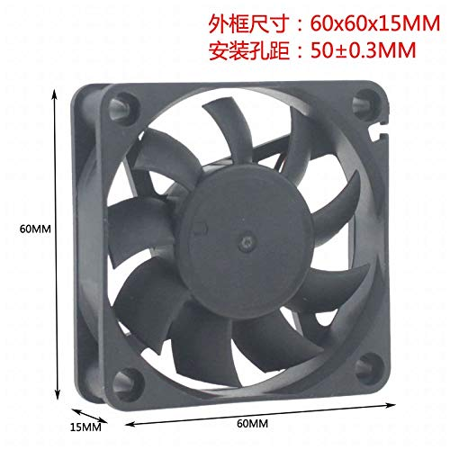 REFIT GDT DC 12V 6CM cm 60MM 60X60X15 Double Ball Bearing Durable Cooling Fan