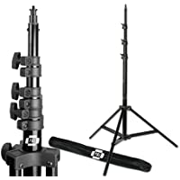 PBL Pro Heavy Duty 8ft Light Stand, Air Cushioned, for Photo or Video Photographic Lighting